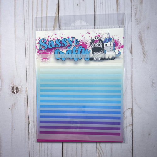 Sailor Stripe Stencil - Sassy and Crafty