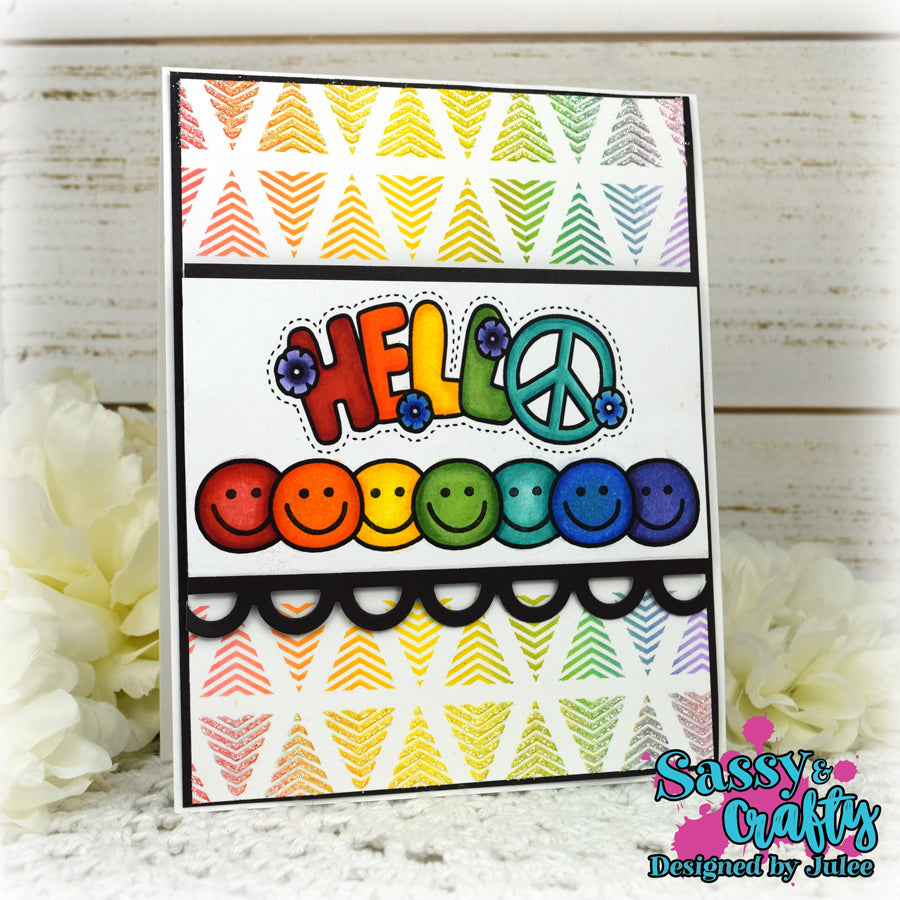Hippie Patches Stamp