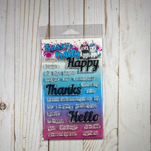 Happy Everything Sentiment Stamp Set - Sassy and Crafty