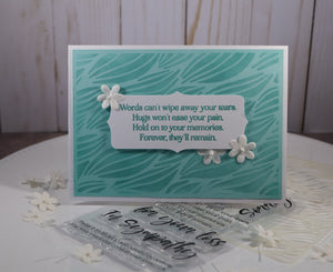In Sympathy Sentiment Stamp Set - Sassy and Crafty