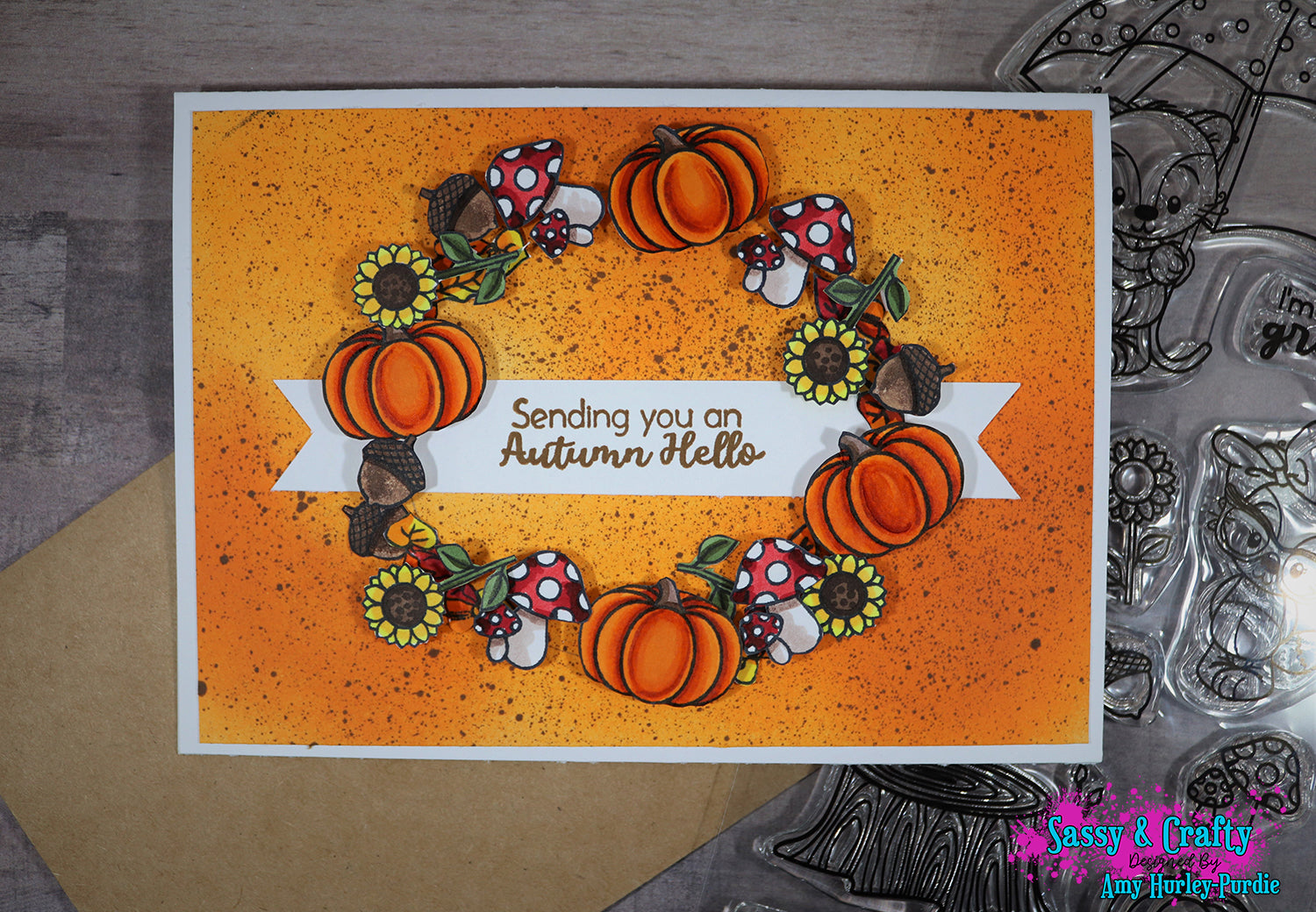 Autumn Hello Stamp