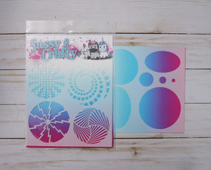 Comic Book Circles Stencil 2-Pack