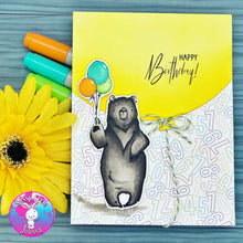 Load image into Gallery viewer, Bearly Happy Birthday Stamp