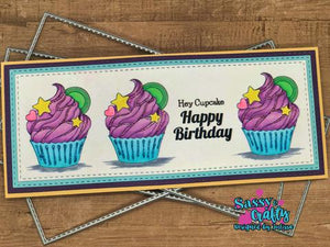 Sugar Rush 4x8 Stamp Set - Sassy and Crafty