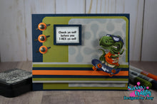 Load image into Gallery viewer, Skate-a-Saurus 4x8 Stamp Set - Sassy and Crafty