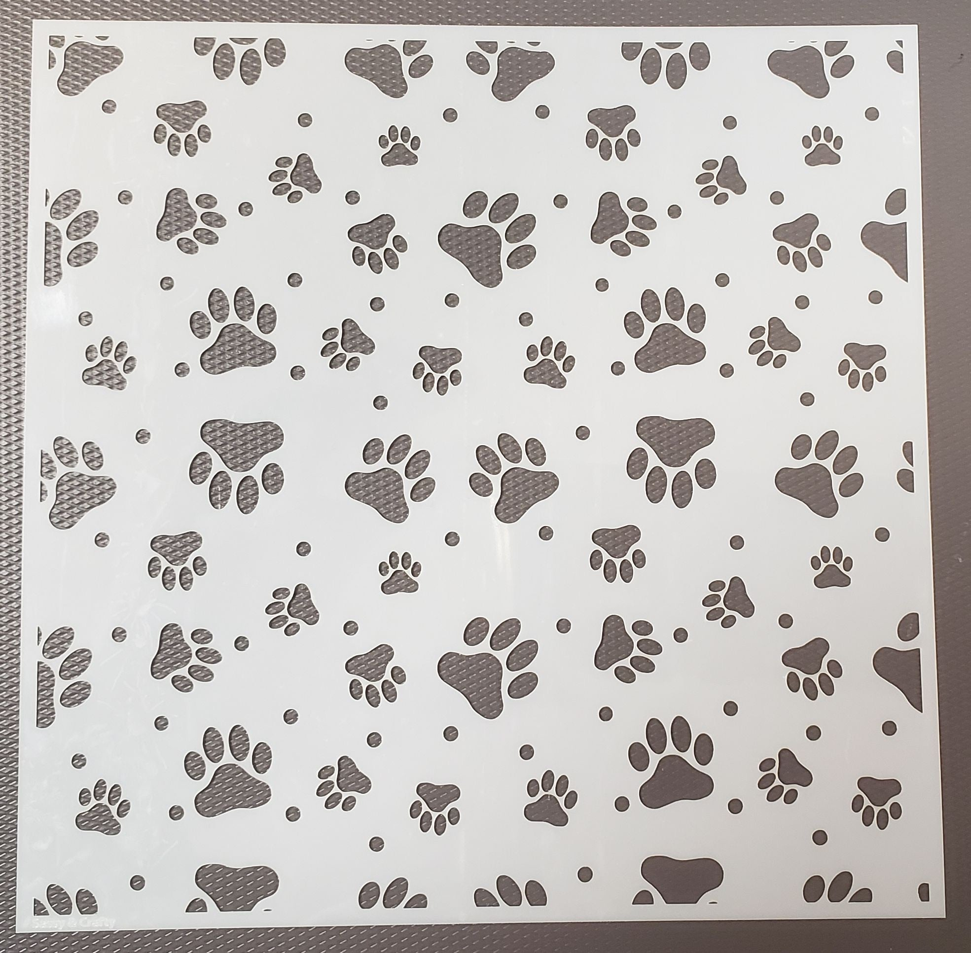 Seeing Spots & Paw Prints Stencil 2-pack