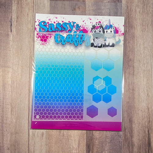 Honeycomb 6x6 Stencil - Sassy and Crafty