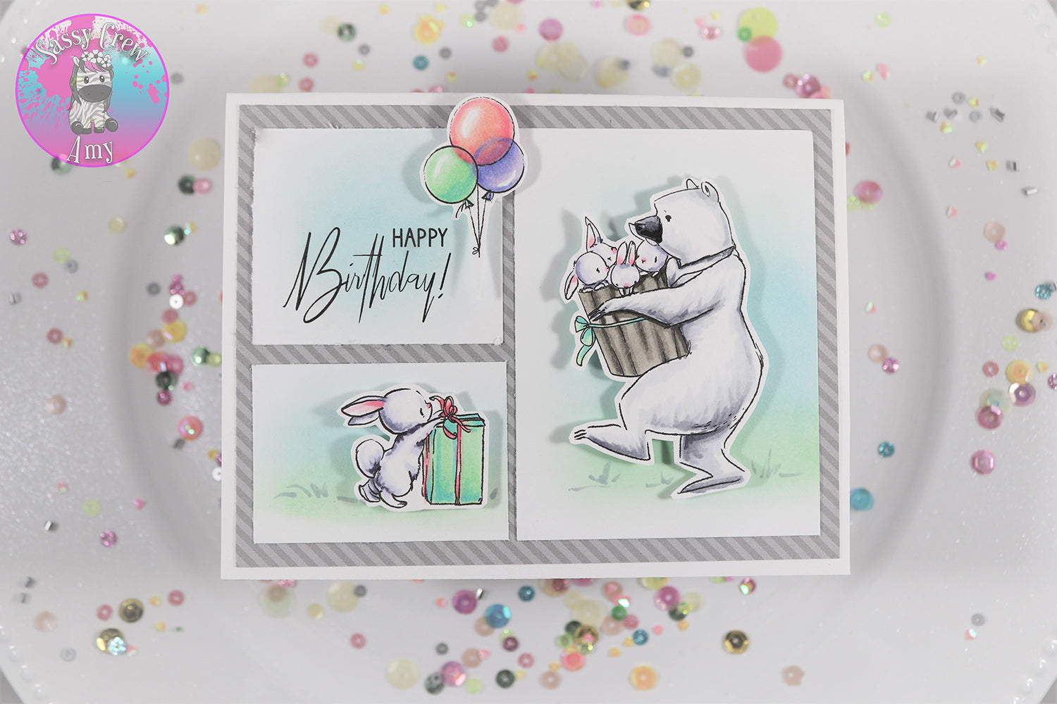 Bearly Happy Birthday Stamp