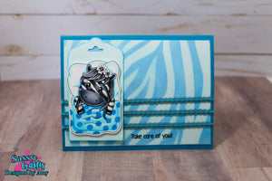 Zebra Stripe Stencil - Sassy and Crafty
