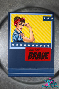 Sassy Girls - Free & Brave 4x8 Stamp Set - Sassy and Crafty