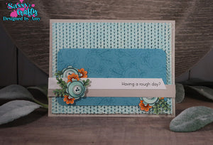 Floral Thank You 4x8 Stamp Set