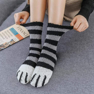 Winter Cat Claws Cute Thick Warm Sleep Floor Sock(A SET 5PCS(HOT SALE) the above Free shipping   )