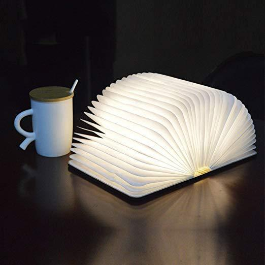 Creative Book Light USB Charging LED Folding Decorative Table Lamp Popular Decoration