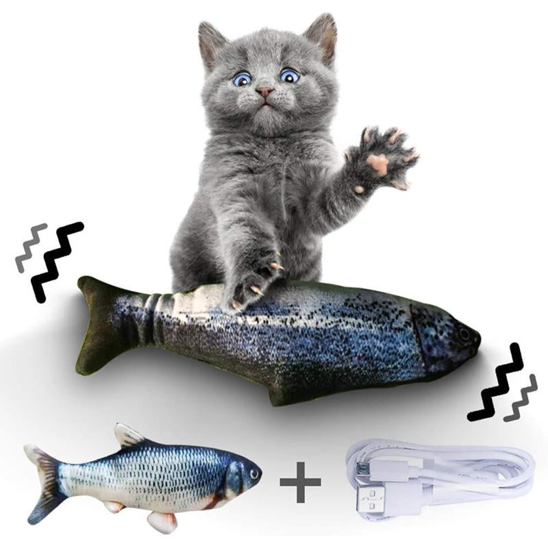 Cat Realistic Plush Simulation Electric Fish 2 Pack