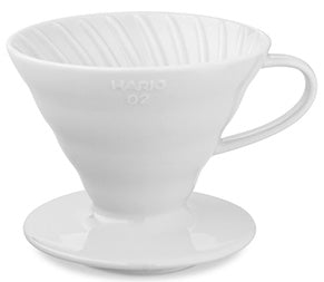 Hario V60-02 Pour Over (White Ceramic)