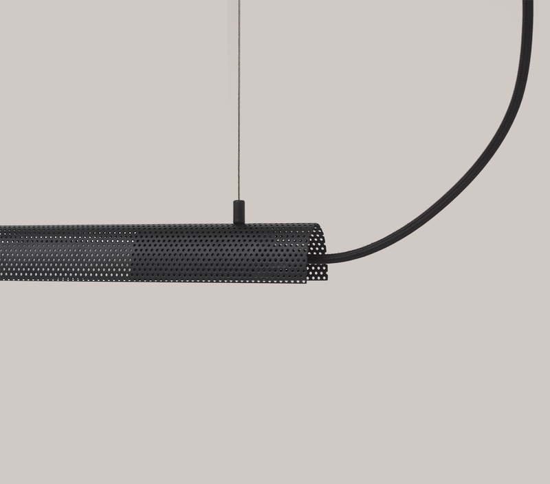 Radent Pendant Lamp, 700 mm - Black - NUAD