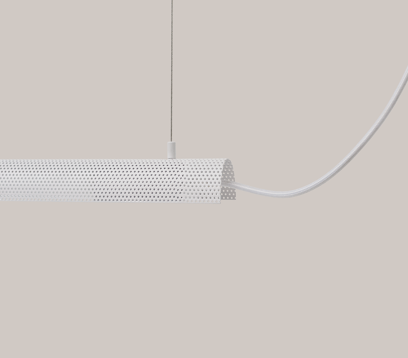 Radent Pendant Lamp, 700 mm - White - NUAD