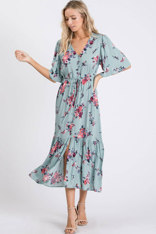 Sagely Floral Midi Dress
