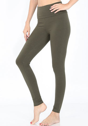 Cotton Leggings (Olive)