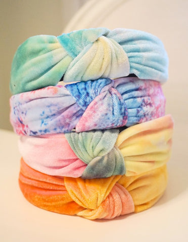 Tie-Dye Top Knot Headbands