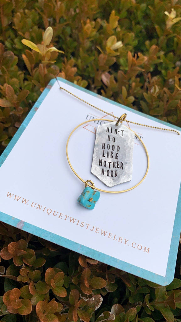 Unique Twist Jewelry - Ain't No Hood Like Motherhood Necklace