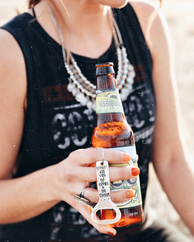 Raisin Hell Bottle Opener Keychain