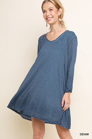 Harvest Mineral Wash Dress (Denim)