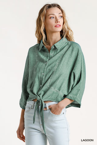 Emerald Washed Out Top