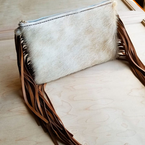 Waylon Tan and Brown Leather Clutch
