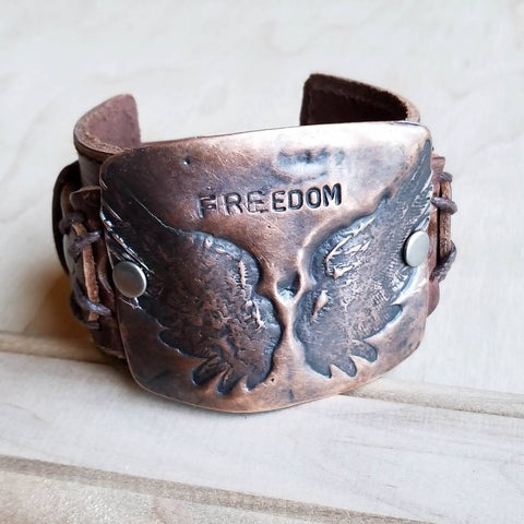 Freedom Cuff in Copper