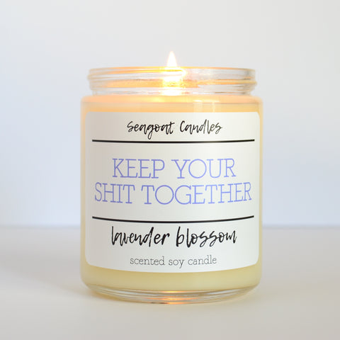 Seagoat Candles - Keep Your Shit Together • Lavender Blossom