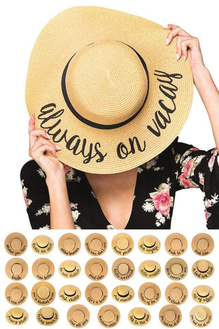 Always On Vacay Beach Hat