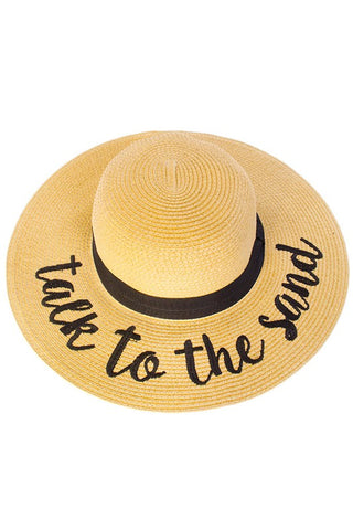 Talk to the Sand Beach Hat