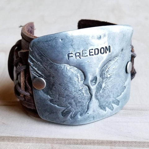 Freedom Cuff in Antique Silver