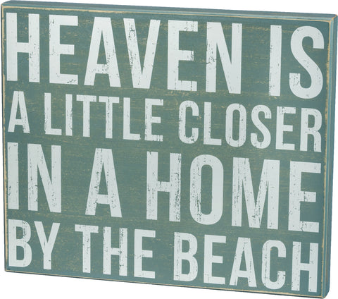 By the Beach Box Sign