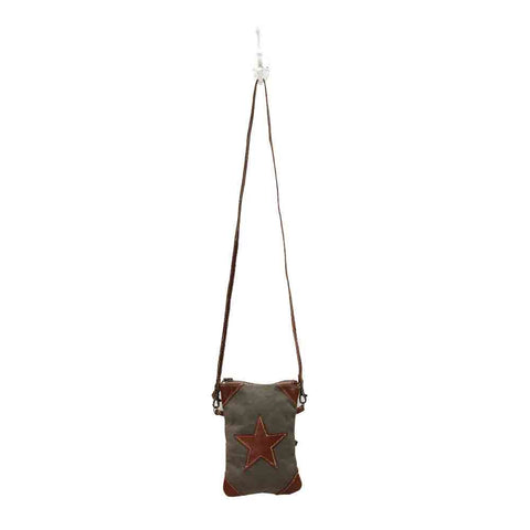 Leather Star Crossbody Bag