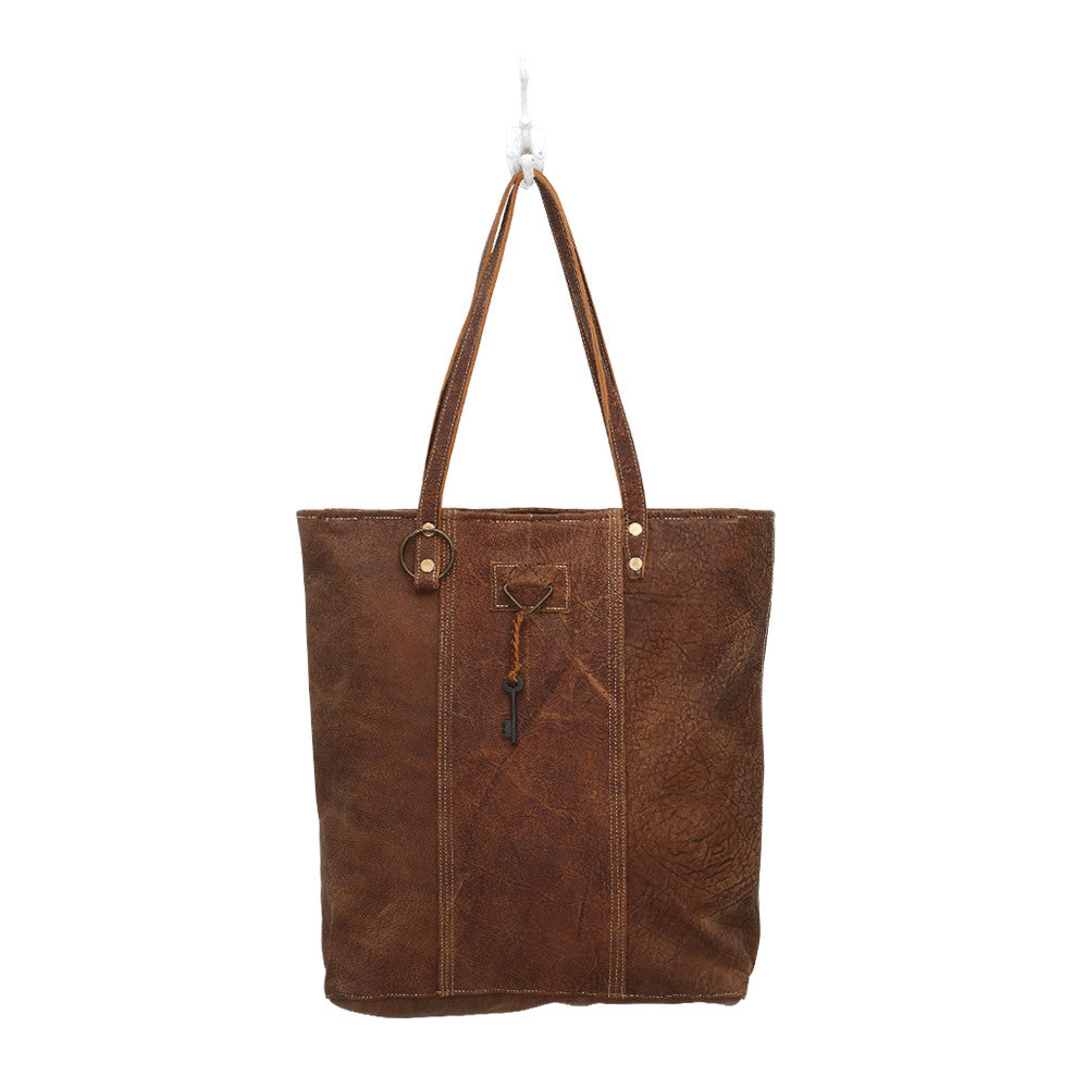 Ring & Key Leather Tote