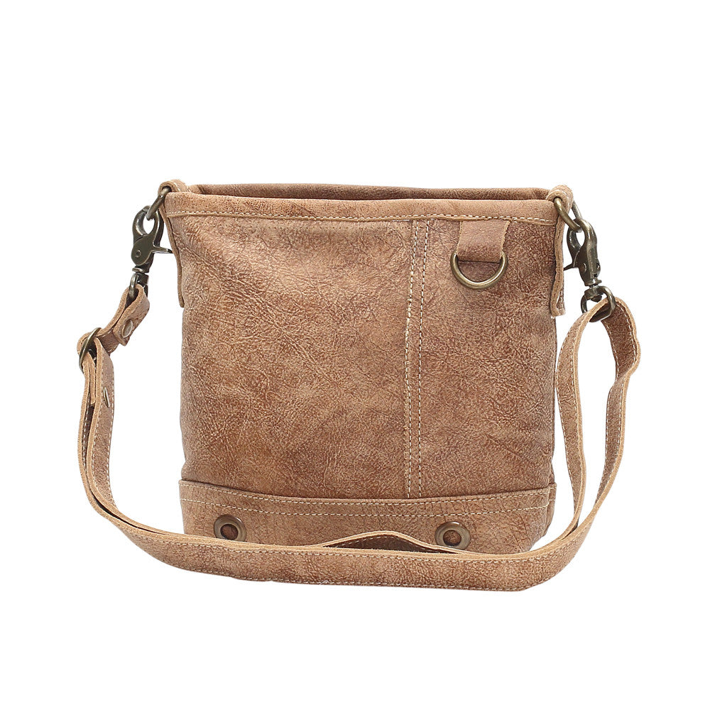 Rings Leather Crossbody Bag