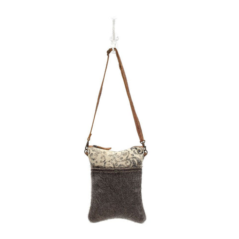 Hair-on Pocket Crossbody Bag
