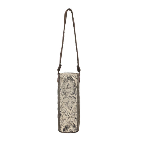 Antique Floral Wine Bag