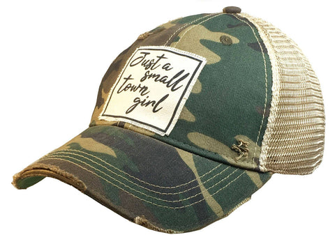 Just A Small-Town Girl Distressed Trucker Cap