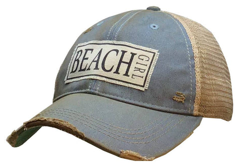 Beach Girl Distressed Trucker Cap