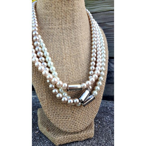 Pearls & Bullets Necklace (Smokey)