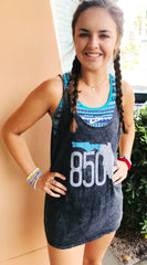 850 Slouchy Tank (Acid Wash)