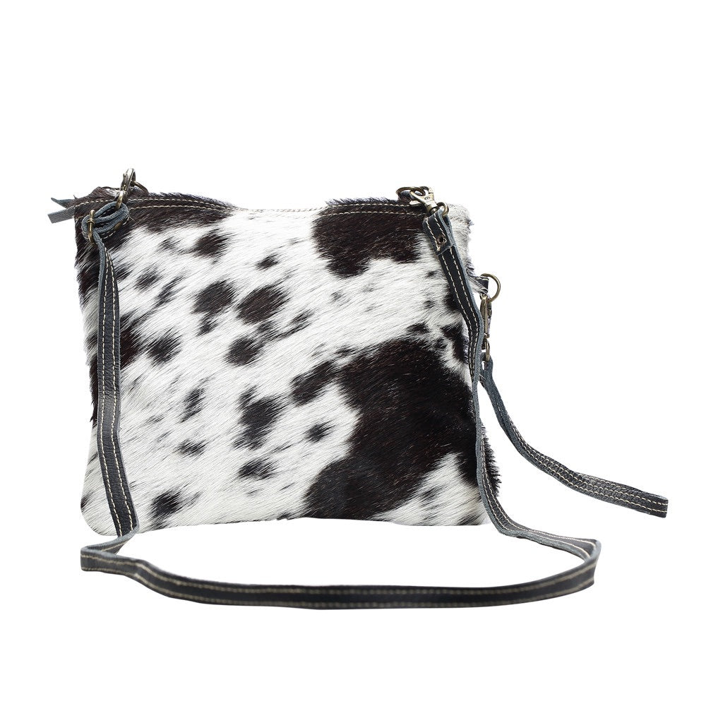 Myra Cowhide Cross-body Bag (Black)