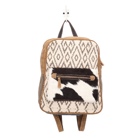 Chevron & Cowhide Backpack