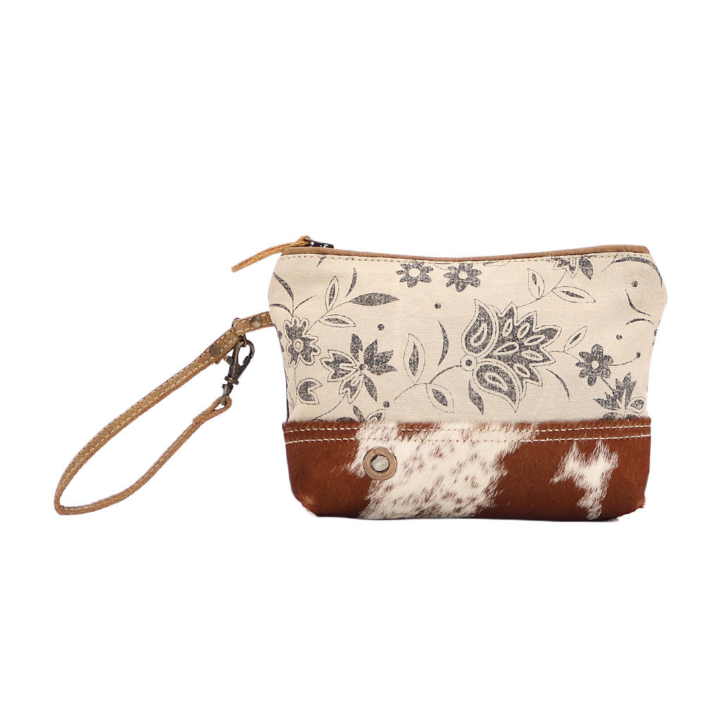 Daisy Cowhide Pouch