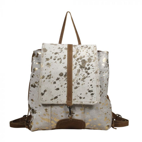 Silvery Touch Cowhide Backpack