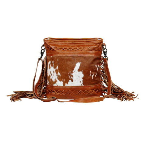 Fashion Creed Leather Fringe Bag