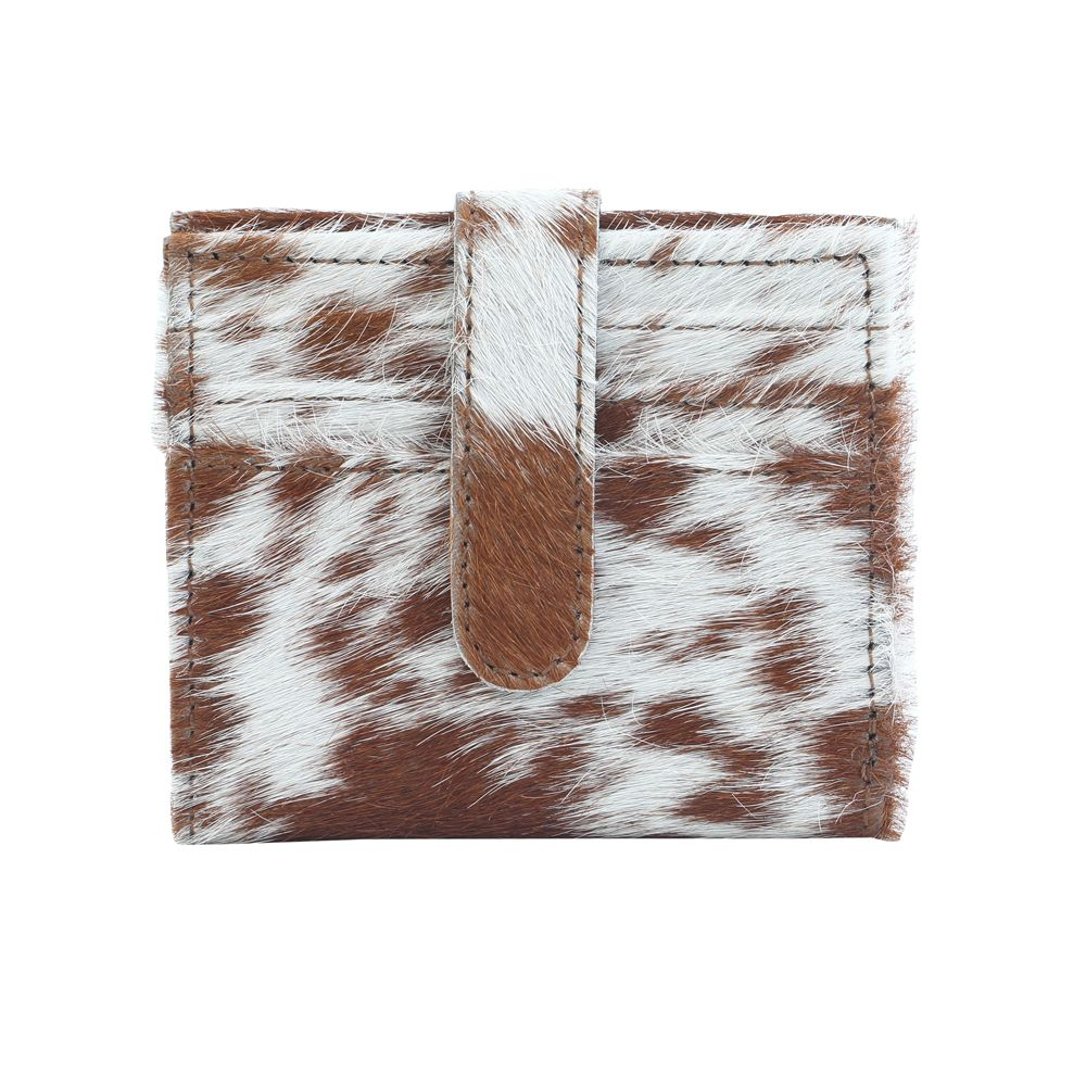 Cat-Patch Leather Hair Wallet